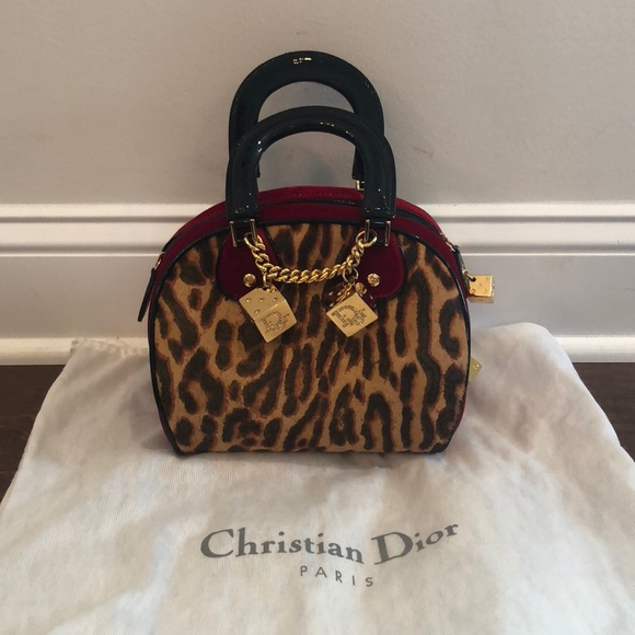 aa57043ddbd Dior Bags | Christian Leopard Cocktail Bag | Poshmark